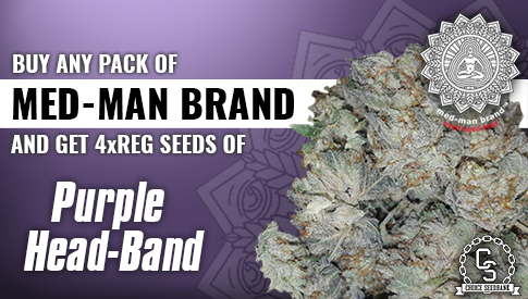 Med-Man Brand Purple Head Band Promotion