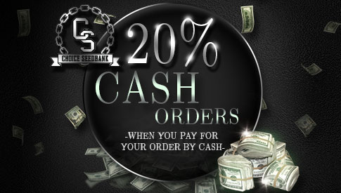 20% Off Cash Orders